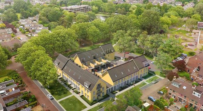 Een impressie van de woningen die op de Mauritshof komen