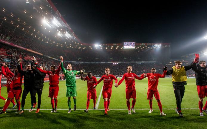 De derby FC Twente-Heracles in 2017