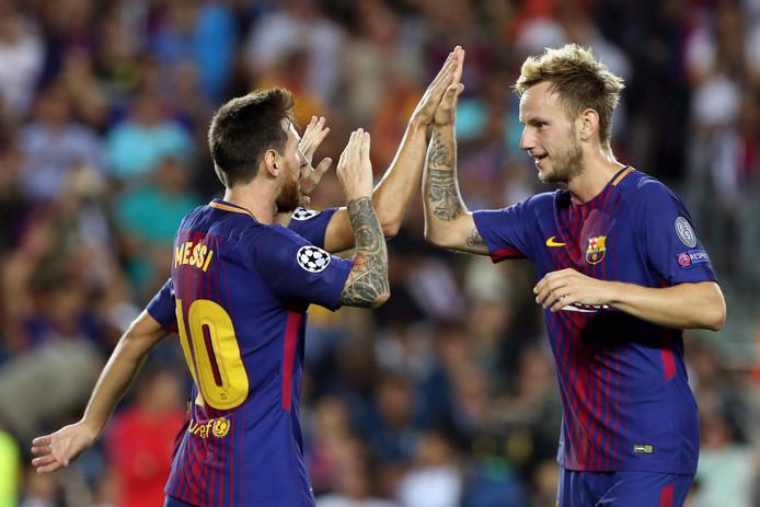 Lionel Messi en Ivan Rakitic.