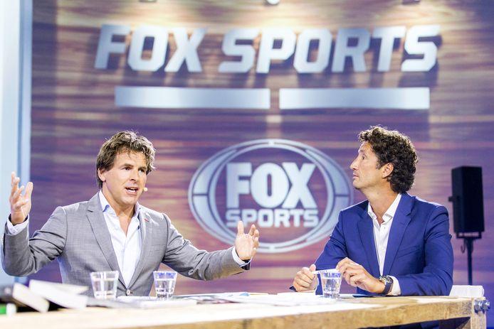 Jan Joost van Gangelen (R) en Toine van Peperstraten van Fox Sports.