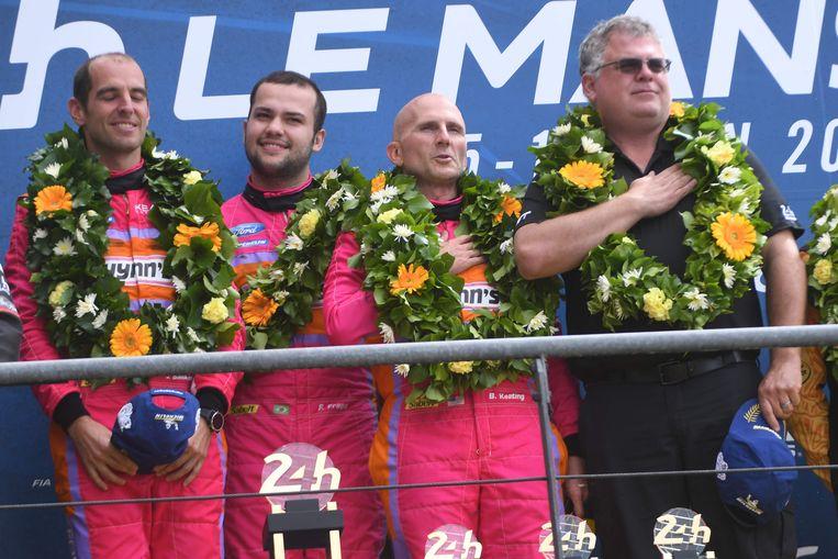 Jeroen Bleekemolen, Felipe Fraga en Ben Keating.