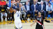 VIDEO. Zelfs zonder Kevin Durant is Portland geen partij voor Golden State in finale van het westen