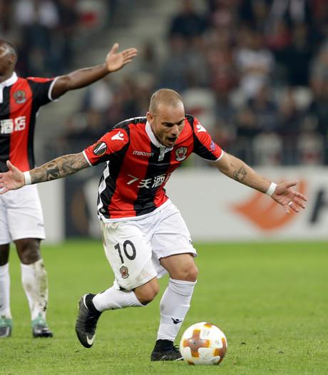Sneijder met Nice onderuit in eigen stadion