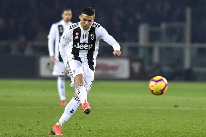 De strafschop van Cristiano Ronaldo.
