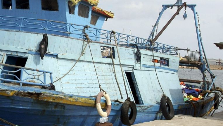 Een boot bij Lampedusa. Beeld epa