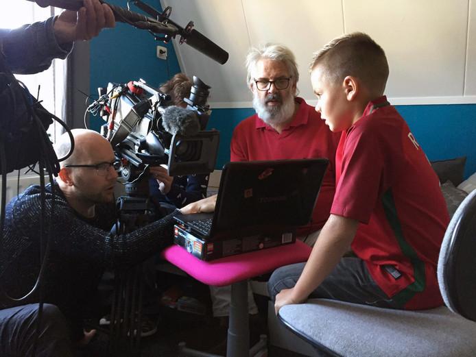 Nick Murre in gesprek met presentator Jack Wouters.