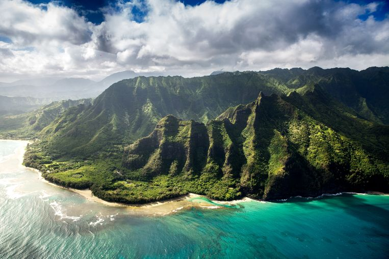 Archieffoto van Hawaï.