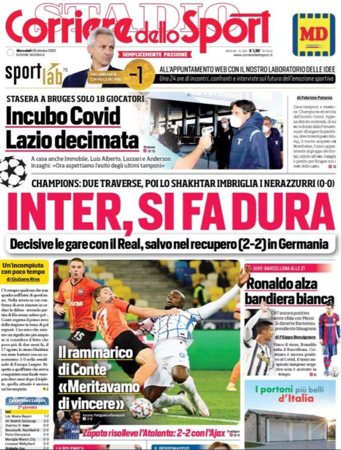 Cover Corriere dello Sport