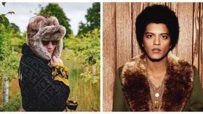 IN BEELD. Bruno Mars en Ed Sheeran vechten 'swag wars' uit