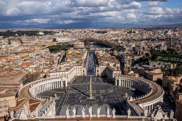 Uitzicht vanaf de Sint-Pieterskerk in Vaticaanstad. Beeld AD