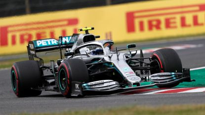 Bottas (Mercedes) is ook in tweede oefenritten de snelste in Japan