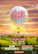 Promotie voor de livestream van #BeetjeDansen vanuit een heteluchtballon