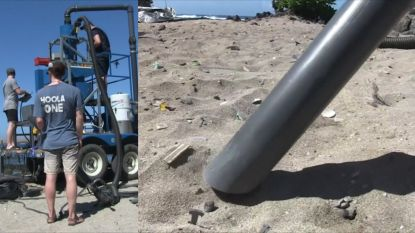 Deze gigantische stofzuiger haalt microplastics van het strand