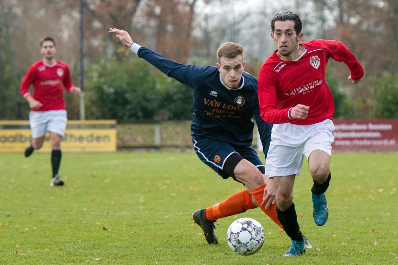 Beeld uit de wedstrijd SC Rheden - DVV.
