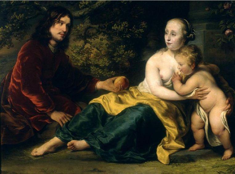 Portret van een familie in de gedaante van Venus, Mars en Cupido, door Ferdinand Bol, 1656 Beeld Adviescommissie Restitutieverzoeken Cultuurgoederen en Tweede Wereldoorlog