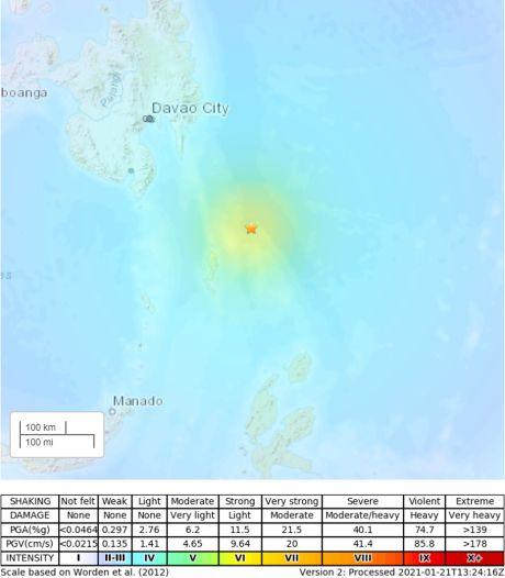 Un séisme de magnitude 7 au sud des Philippines
