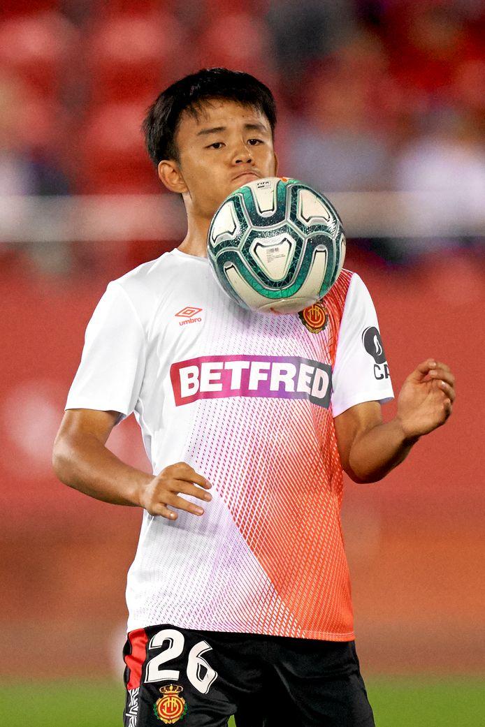 Takefusa Kubo, de van Real Madrid gehuurde dribbelaar van Real Mallorca.
