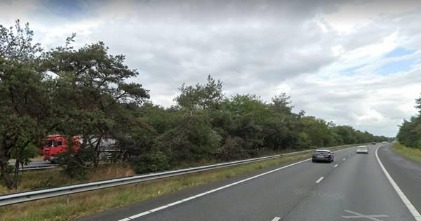 Ongeluk met drie autos op A28 bij Harderwijk: weg na lange file weer vrij.