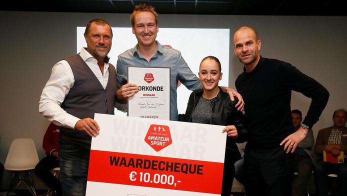 John de Wolf, Geert-Jan van Dijken, Sanne Wevers en Erben Wennemars.