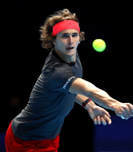 Zverev klopt Cilic in eerste partij ATP Finals
