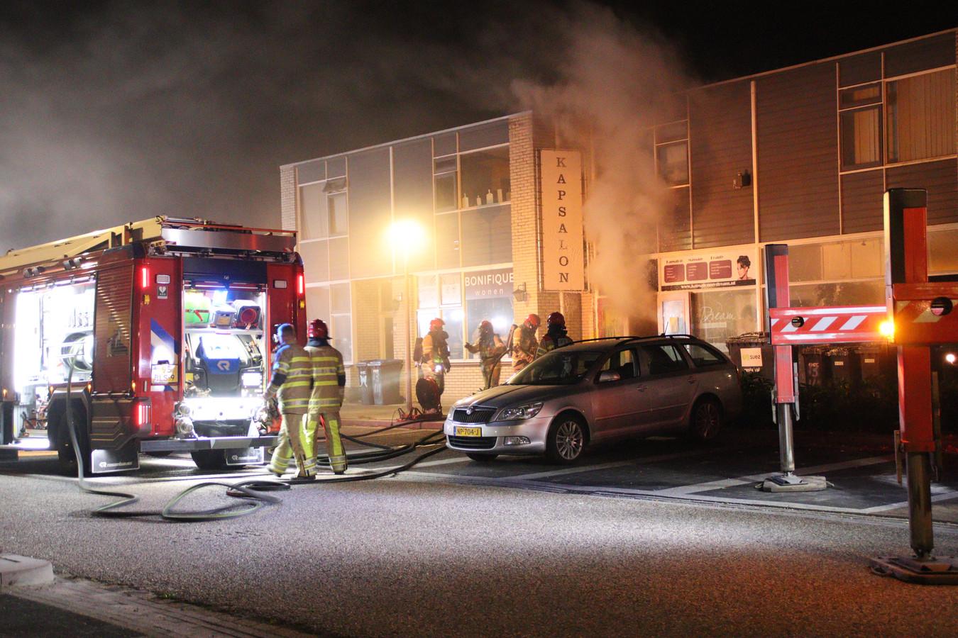 Een brand bij een kapsalon in Lelystad.