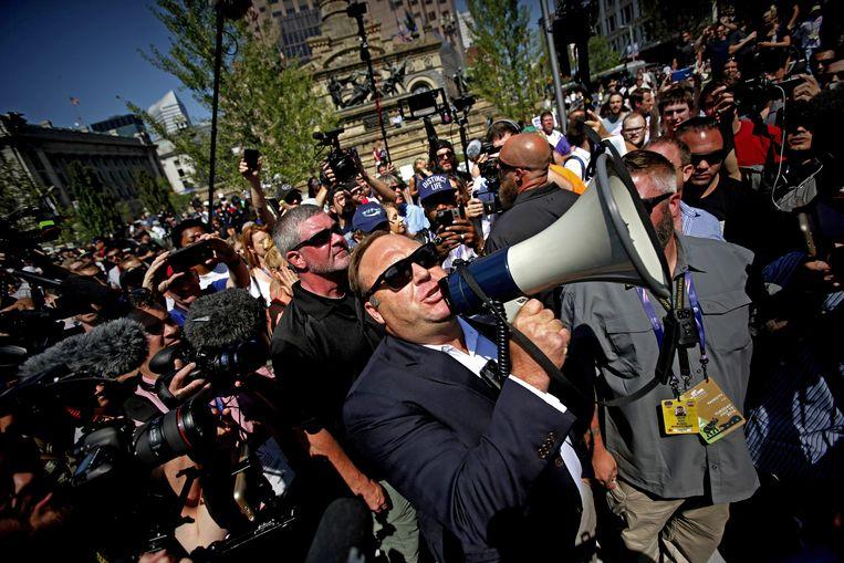 Alex Jones, megafoon van extreemrechts in de VS.