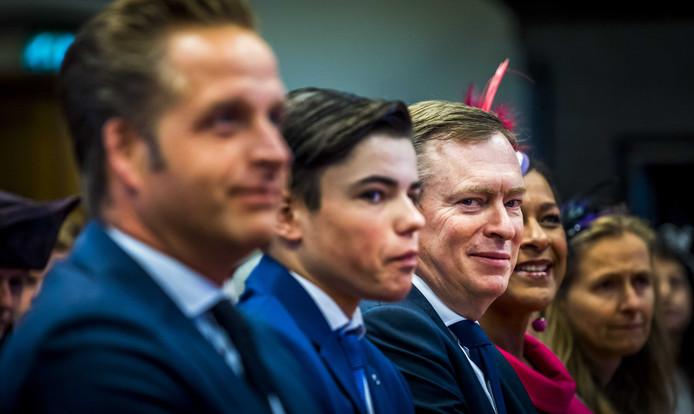 Minister Bruins tijdens Kleine Prinsjesdag in de Ridderzaal.