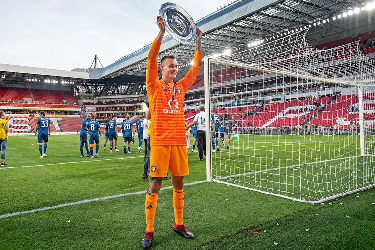 'Toen we penalty's moesten nemen, dacht ik wel: dit kan weleens mijn moment worden.' Beeld Guus Dubbelman / de Volkskrant
