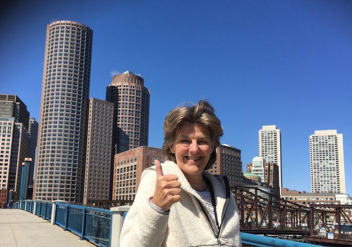 Helge Prinsen hoorde in Boston dat ze een NL Award heeft gewonnen.