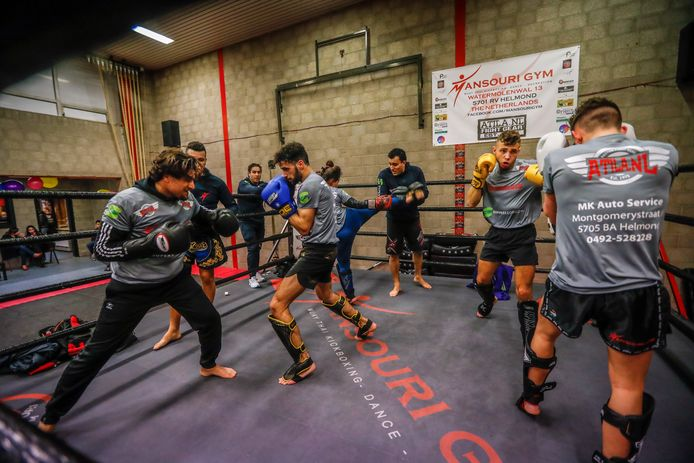 Kickboksles bij Mansouri Gym in Helmond.