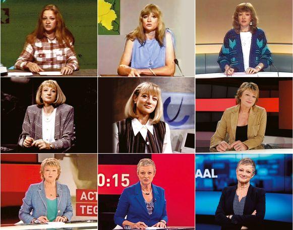 Martine Tanghe door de jaren heen. Geert van Istendael, die in hetzelfde jaar begon als VRT-journalist: ''Haar présence, haar perfecte uitspraak, haar mooie spreekritme, het was er allemaal vanaf dag één.'