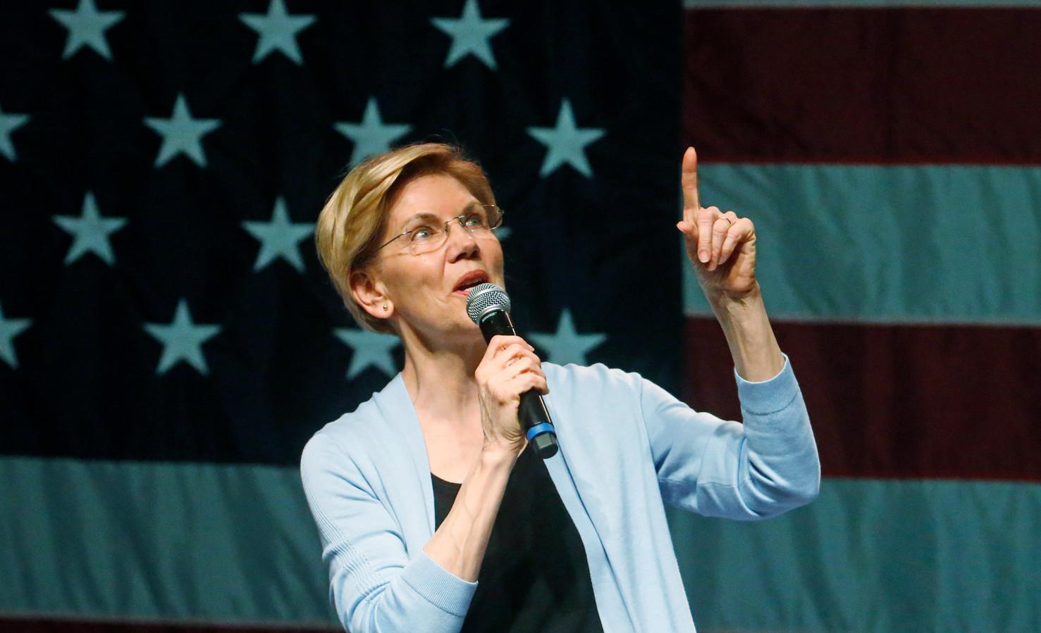 De Democratische senator en presidentskandidaat Elizabeth Warren.