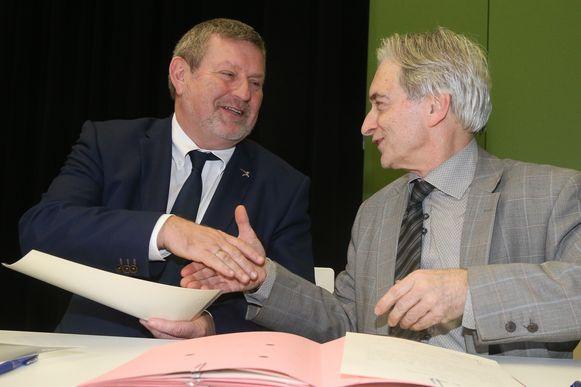 Herman Vijt bij waarnemend gouverneur Didier Detollenaere.