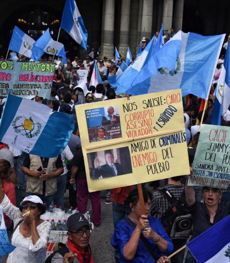 Duizenden betogers eisen aftreden president Guatemala