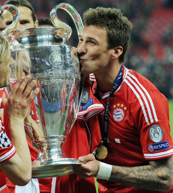 Mario Mandzukic won in 2013 de Champions League met Bayern München.