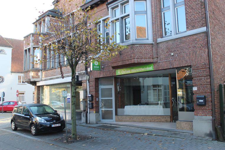 Het nieuwe pand van Wereldwinkel Maldegem in de Marktstraat.