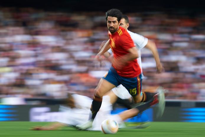 Ruben de la Red in actie voor Spanje.