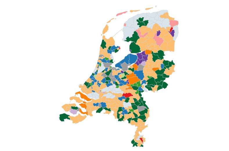 Gemeenteraadsverkiezingen tussenstand 22-03-2018, 8:16