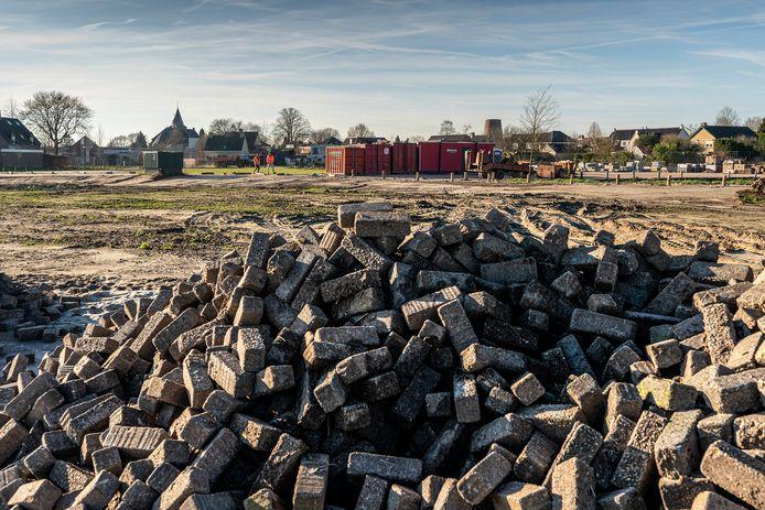 Esch, het terrein waar de nieuwbouw gaat komen.