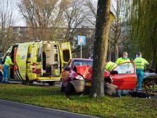 Automobilist gewond na botsing tegen boom in Oosterhout