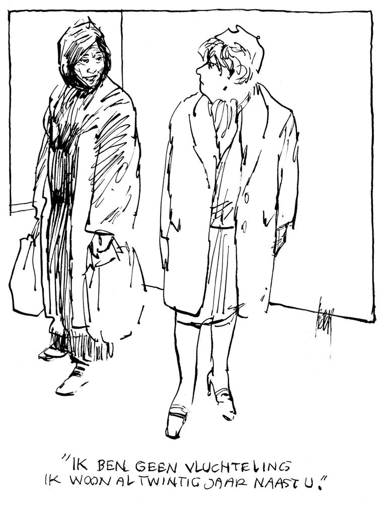 De cartoon waarmee Peter van Straaten dit jaar de Inkspotprijs won Beeld Peter van Straaten