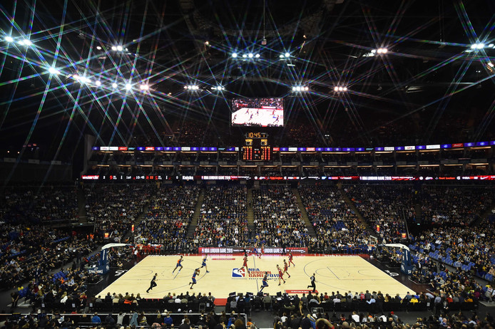 De NBA London Game 2019 in de O2 Arena in London.