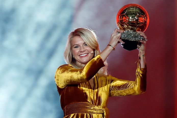 Ada Hegerberg won op 3 december 2018 als eerste voetbalster de Gouden Bal.