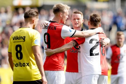 Nicolai Jørgensen, Sam Larsson en Jens Toornstra hadden vorig seizoen reden tot juichen in Venlo. Feyenoord won met 0-3 van VVV.
