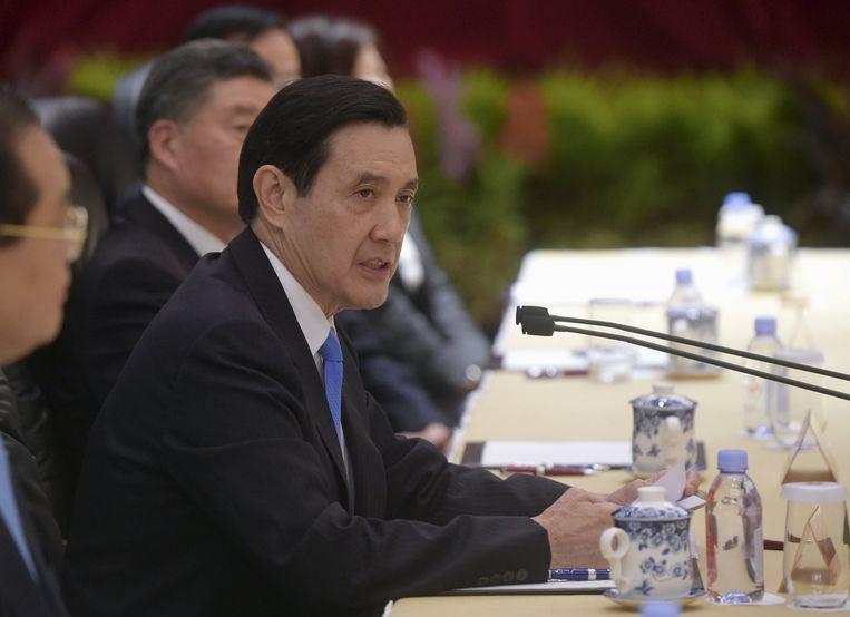 Ma Ying-jeou spreekt Xi Jinping toe in Singapore Beeld reuters