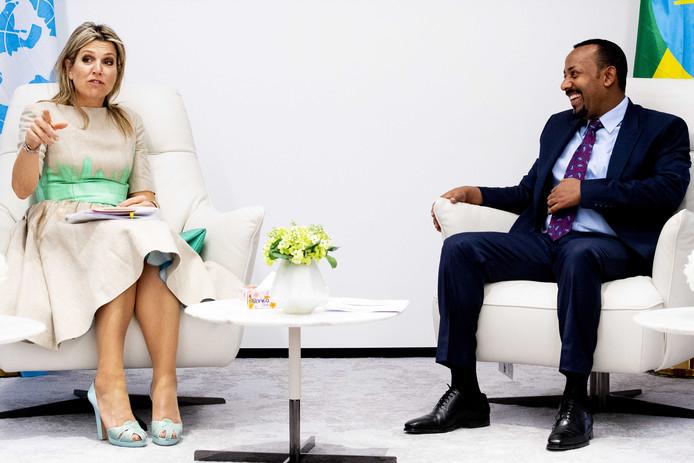 Koningin Maxima op bezoek in Ethiopië.