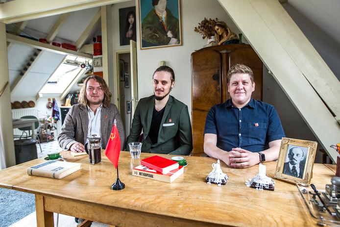 Bram Bosman (l), Elmyr Visser (m) en Roy Dean vormen het bestuur van de NCPN IJsselstreek.