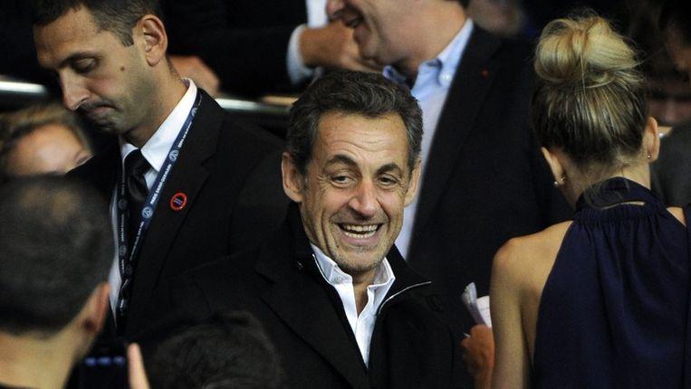 De voormalige Franse president Sarkozy zou geld voor zijn campagne hebben afgetroggeld van de steenrijke bejaarde Française Liliane Bettencourt. Beeld epa