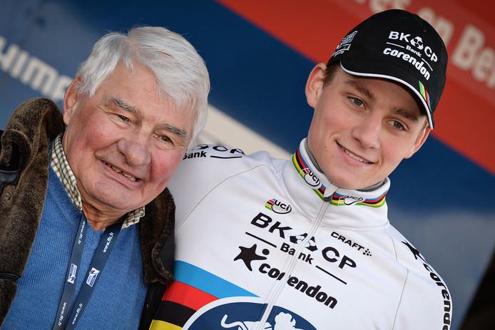 Mathieu van der Poel en zijn opa Raymond Poulidor.