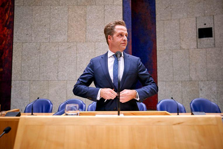 """Minister Hugo de Jonge van Volksgezondheid: """"In de euthanasiewet staat dat euthanasie bij vergevorderde dementie mogelijk moet zijn"""". Beeld ANP"""